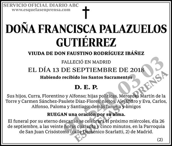 Francisca Palazuelos Gutiérrez